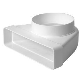 Perėjimas d125/220 x 55  KLD25-125 Ventiliacinis, plastikinis, baltas
