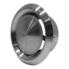 Difuzorius metalinis, išštraukimo, d125mm inox (NP)