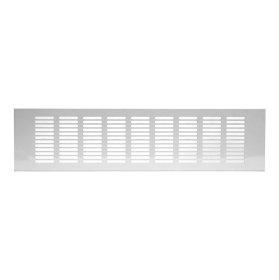Grotelės 100 x 400 RA1040 Ventiliacinės, aliuminės, baltos spalvos