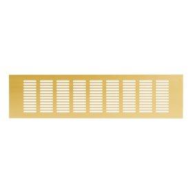 Grotelės 100 x 400RA1040G Ventiliacinės, aliuminės, aukso spalvos