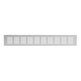 Grotelės 60 x 400 RA640S Ventiliacinės, aliuminės, sidabro spalvos