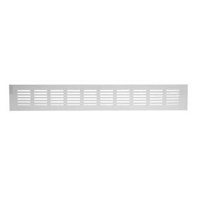 Grotelės 60 x 400 RA640 Ventiliacinės, aliuminės, baltos spalvos