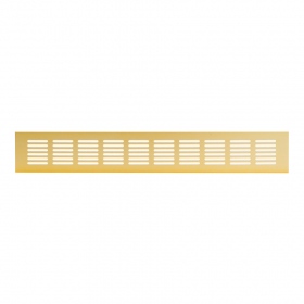 Grotelės 60 x 400 RA640G Ventiliacinės, aliuminės, aukso spalvos