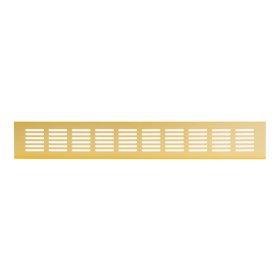 Grotelės 60 x 500 RA650G Ventiliacinės, aliuminės, aukso spalvos