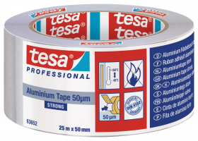 Aliuminio juosta TESA, 25 mm x 50 m