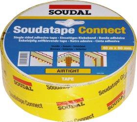 Hermetinė juosta SOUDAL, SOUDATAPE CONNECT, 60 mm x 40 m, lipni, garų veikiamoms jungtims izoliuoti