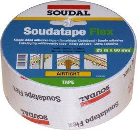 Hermetinė juosta SOUDAL, SOUDATAPE FLEX, 60 mm x 25 m, lipni, elastinga, garų veikiamoms jungtims izoliuoti