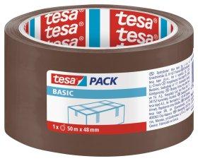 Pakavimo juosta TESA BASIC 48 mm x 50 m, rudos sp.