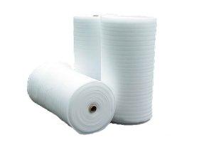 Pūsta polietileno plėvelė REGIS 3 mm storio, 1,3 x 100 m, 20 kg/m³ tankio, baltos spalvos
