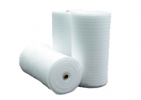 Pūsta polietileno plėvelė REGIS 5 mm storio, 1,2 x 50 m, 20 kg/m³ tankio, baltos spalvos