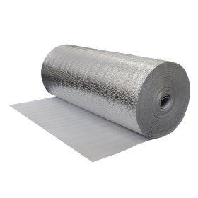 Pūsta polietileno plėvelė REFLEKT 2 mm storio, 1,20 x 50 m, metalizuota, 20 kg/m³ tankio