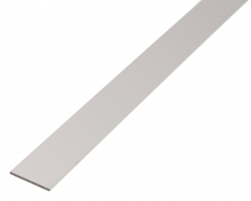 Aliuminio profilis, sidabrinės sp., Matmenys 25 x 2,0 x 1000 mm, 473037