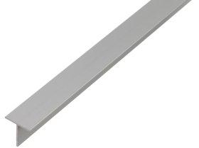 Aliumininis profilis T formos, anoduotas, sidabrinės sp., Matmenys 15 x 15 x 1,5 x 1000 mm, 473112