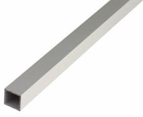 Aliuminio profilis kvadratinis, anoduotas, sidabrinės sp., Matmenys 15 x 15 x 1,0 x 1000 mm, 473525