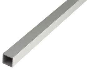 Aliuminio profilis kvadratinis, anoduotas, sidabrinės sp., Matmenys 1,5 x 20 x 20 x 1000 mm, 473532
