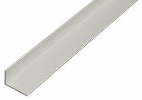 Aliuminio profilis kampinis, anoduotas, sidabrinės sp., Matmenys 40 x 20 x 2,0 x 1000 mm, 473761