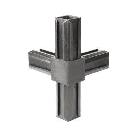 Plastikinė T formos profilių jungtis, Matmenys 20 x 20 mm, juodos spalvos, 426385