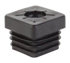 Plastikinis kaištis, kvadratinis, 25 mm, 4 vnt., juodos spalvos, 426743