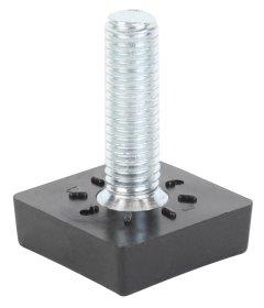 Reguliuojamas kvadratinis varžtas PVC, M8, Matmenys 15 x 20 mm, 4 vnt., juodos spalvos, 426804