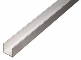 Aliuminio profilis U formos Matmenys 10 x 20 x 10 x 1,5 x 1000 mm, 474409