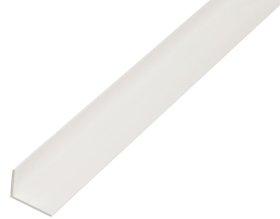 Plastikinis profilis kampinis baltos sp., Matmenys 20 x 10 x 1,5 x 2600 mm, 470265