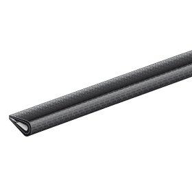 Apsauginis PVC užbaigimo profilis juodos sp., Matmenys 7 x 10 mm, 426859