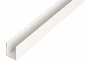 Plastikinis profilis U formos Matmenys 1 x 10 x 10 x 10 x 1000 mm, 484507