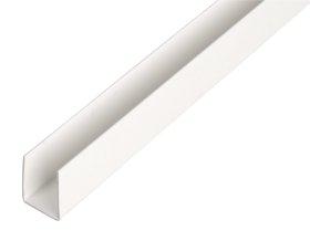 Plastikinis profilis U formos Matmenys 1 x 20 x 20 x 21 x 1000 mm, 484545