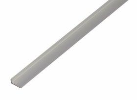 Aliumininis laiptų profilis, anoduotas, sidabrinės sp., Matmenys 1,6 x 8 x 19 x 1000 mm, 475154