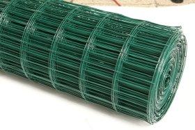 Cinkuotas suvirintas tvoros tinklas dengtas PVC HERVIN GARDEN  akutė 100 x 75 mm, 1 x 25 m.
