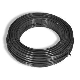 Įtempimo viela tvoros tinklui HERVIN GARDEN, cinkuota, dengta PVC, skersmuo 2,3mm, 30 m rulone, tamsiai pilka