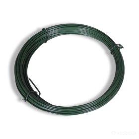 Įtempimo viela tvoros tinklui HERVIN GARDEN, cinkuota, dengta PVC, skersmuo 1,3 mm, 30 m rulone, žalia