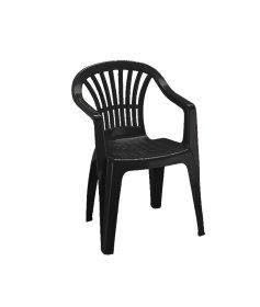 Plastikinė kėdė ALTEA, antracito spalvos, maks. apkrova iki 120kg