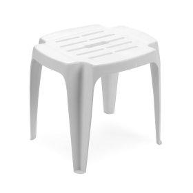 Plastikinė taburetė CALYPSO baltos spalvos, maks. apkrova iki 12kg