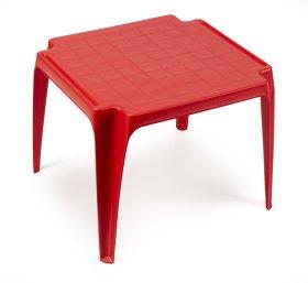 Plastikinis vaikiškas staliukas TAVOLO BABY, raudonos spalvos, maks. apkrova iki 35kg