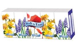 Vienkartinės higieninės nosinaitės  SOFT&EASY, 3-jų sluoksnių, 1 vnt.