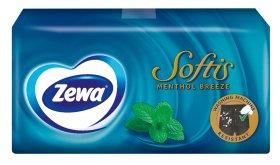 Vienkartinės nosinaitės ZEWA MENTHOL, 4-ių sluoksnių, 10 vnt.