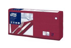 Stalo servetėlės TORK 33x33 cm., dvisluoksnės, raudonos  spalvos, N