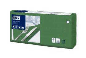Stalo servetėlės TORK 33x33 cm., dvisluoksnės, žalios spalvos, N