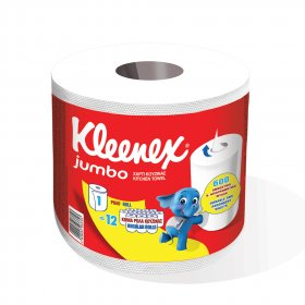 Popierinis rankšluostis KLEENEX Jumbo, 600 lap.
