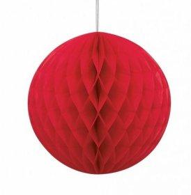 Dekoracija BURBULAS, korėto popieriaus, raudonos spalvos, 35cm., UŽS
