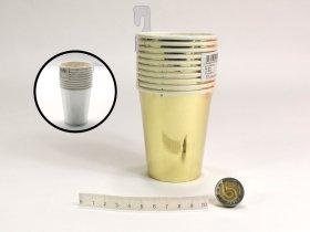 Vienkartiniai puodeliai ŠVENTĖ 7,5 x 8,5 cm, 10 vnt