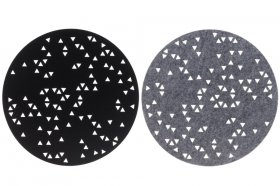 Stalo padėkliukas 4LIVING, apvalus, 38 cm, su taškeliais