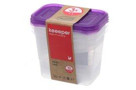 Šaldymo indas maistui KEEPER Fredo, 1l, 3vnt.