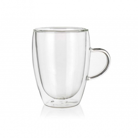 Stiklinis puodelis DOBLO su dvigubomis sienelėmis