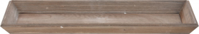 Medinis padėklas, rudos sp., 40 x 14 cm.