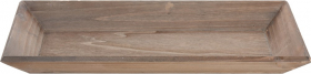 Medinis padėklas, rudos sp., 40 x 20 cm.