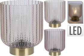 Stalo lempa, stiklinė, su LED apšvietimu, 21 cm.