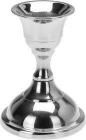 Žvakės laikiklis, sidabrinės sp., 8 cm.