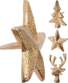 Žvakės papuošimas, įvairių formų, auksinės sp., 5 cm.